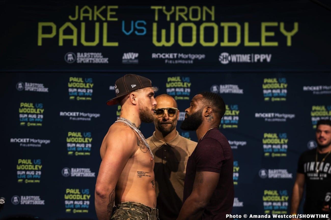 Jake Paul, Tyron Woodley - Boxing News
