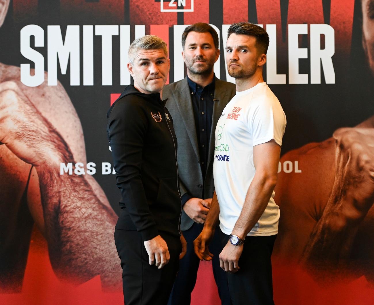 Anthony Fowler, Eddie Hearn, Liam Smith, Ted Cheeseman - Press Room