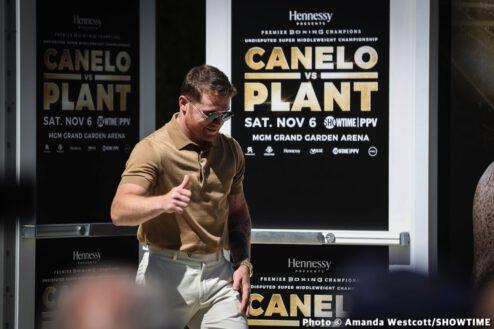 Caleb Plant, Canelo Alvarez - Press Room