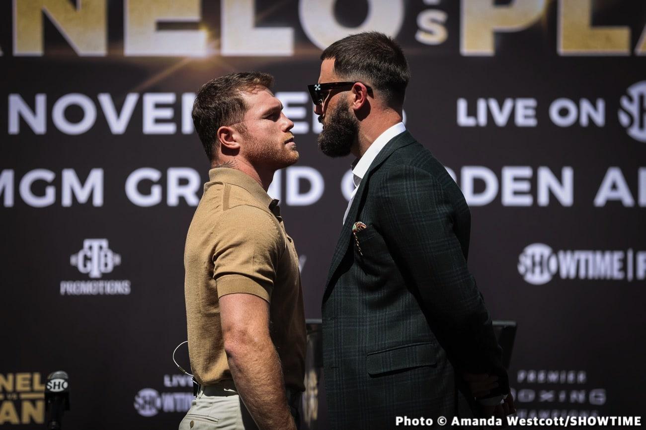 Caleb Plant, Canelo Alvarez, Oscar De La Hoya - Boxing News