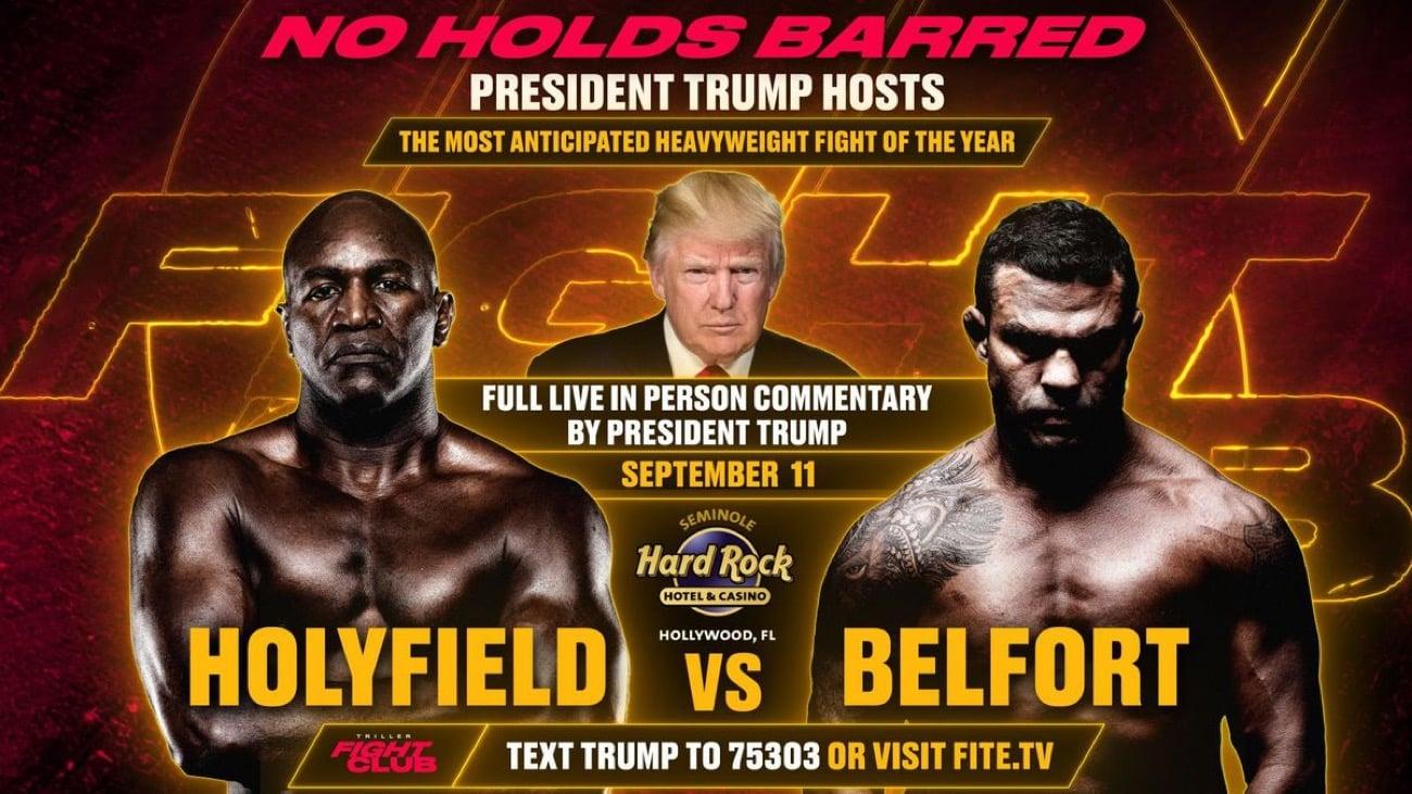 Donald Trump, Evander Holyfield, Vitor Belfort - Boxing News