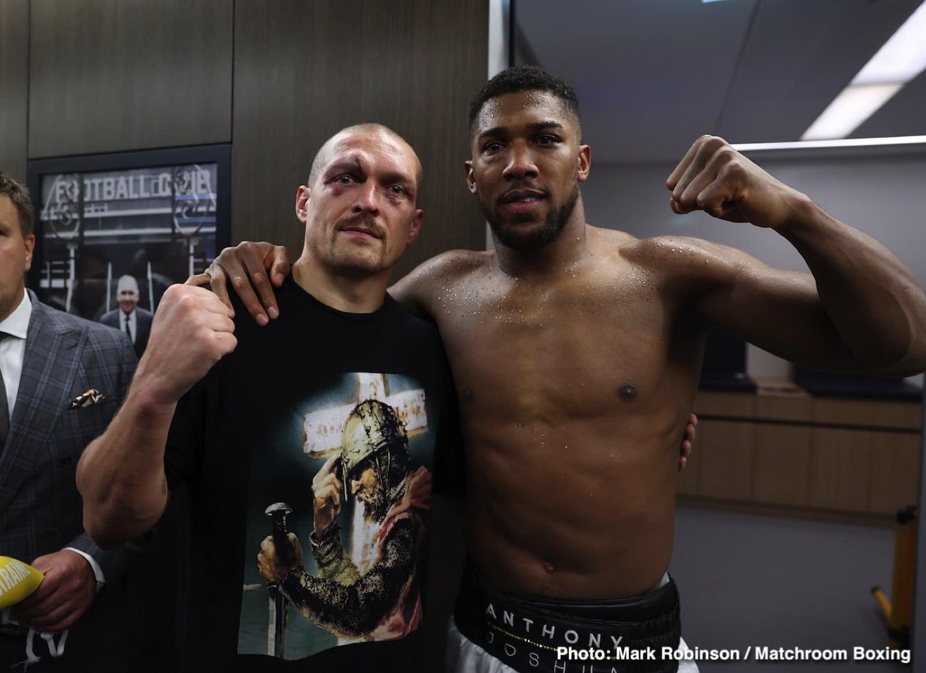 Alexander Usyk, Anthony Joshua, Deontay Wilder, Tyson Fury - Boxing News