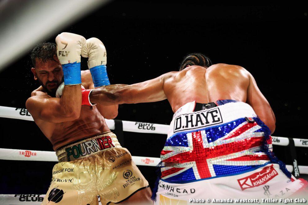 David Haye, Joe Fournier, Tyson Fury - Boxing Results