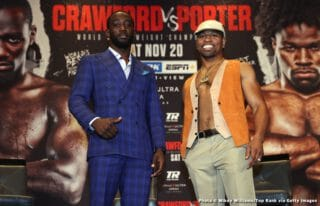 """Crawford Not Sure He'll Stop Porter, But He Says His Performance Will Show """"Why Certain Fights Haven't Manifested"""""""