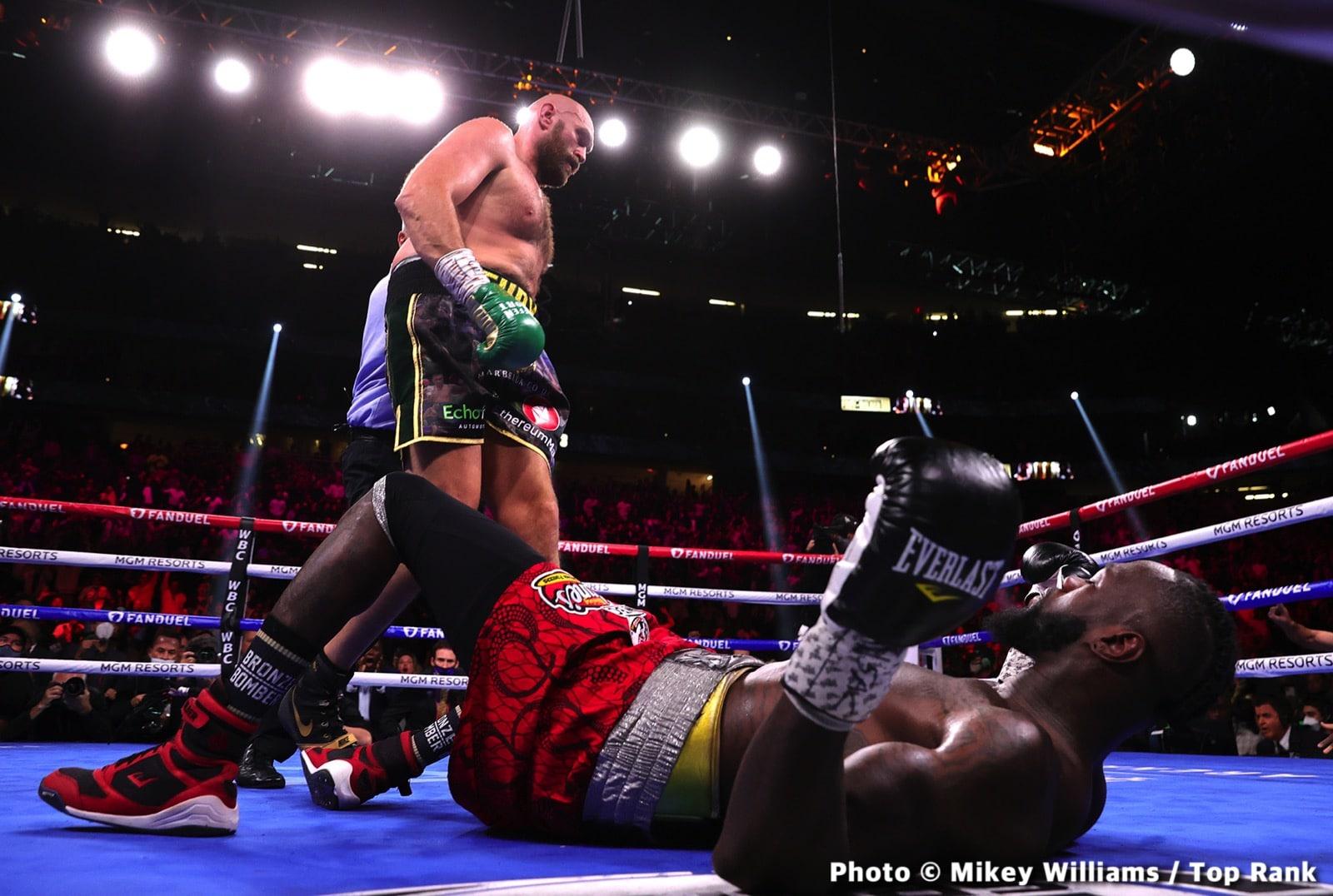 Bob Arum, Deontay Wilder, Shelly Finkel, Tyson Fury - Boxing News
