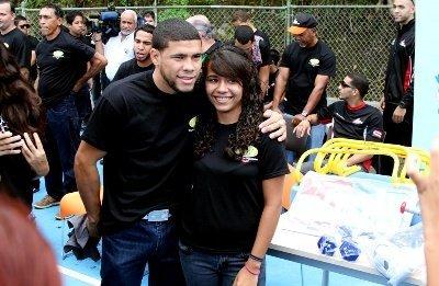 30 nov 2012 WBO Kids Drug Free in Aguas Buenas, Puerto Rico- Juanma Lopez