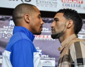 """Andre Ward, Edwin Rodriguez, Ward vs. Rodriguez - OAKLAND, CALIFORNIA - November 14, 2013 - WBA and Ring Magazine Super Middleweight World Champion Andre """"S.O.G."""" Ward (Oakland, Calif.) is just 48 hours away from his return to the ring, and he's locked and loaded for his first fight of 2013. Ward will face off with undefeated contender Edwin """"La Bomba"""" Rodriguez in a super middleweight title bout on Saturday night at the Citizens Business Bank Arena in Ontario, Calif., and live on HBO World Championship Boxing."""