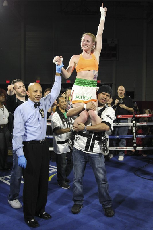 Heather Hardy - Brooklyn, NY (3/21/14) - Earlier tonight, DiBella Entertainment presented the latest installment of its ever popular Broadway Boxing series with an exciting eight-bout card from the Aviator Sports and Events Center in Brooklyn, NY.
