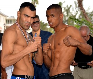 Roberto Garcia - On April 30, 2014, eighteen fighters ranging from Featherweight to Light Heavyweight took center stage at Hialeah Park and Casino to weigh in for ESPN's Thursday Night Fights.