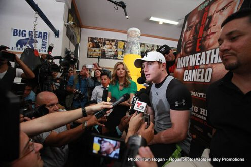 "Floyd Mayweather Jr, Mayweather vs. Canelo, Saul ""Canelo"" Alvarez - Boxing Interviews"