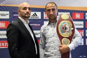 Pressekonferenz zum Boxkampf Abraham vs. Bouadla