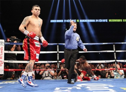 Adrien Broner Broner vs. Maidana Marcos Maidana Boxing News Boxing Results
