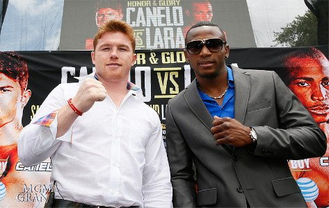 "Canelo vs. Lara, Erislandy Lara, Saul ""Canelo"" Alvarez - (Photo credit: Hogan Photos) CANELO ALVAREZ"