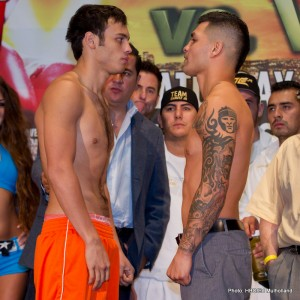 BOXING: Julio Cesar Chavez Jr. vs Bryan Vera Weigh-In