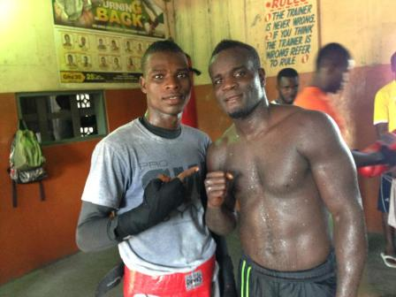 Commey spars with Clottey