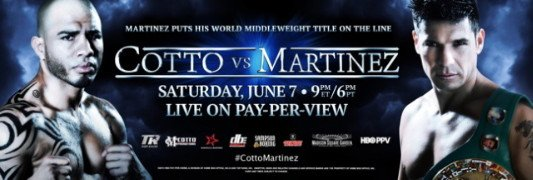 Cotto vs. Martinez - TODD duBOEF:  I would like to welcome everyone to Miguel's conference call.  This fight is one we have all been waiting for.  Obviously Miguel wants to show time and time again how great New York is and how passionate he is for the fans there and how he has created a great brand with the Puerto Ricans on Puerto Rican Day Parade weekend.  But more importantly he has a goal to become the first Puerto Rican fighter to win world titles in four different divisions.  In regards to the event, I'm not going to talk about Miguel and how he feels and how he is training – I'll let Freddie and Miguel do that.  Let's talk about the event.  As we went on sale, The Garden told us it was the fastest selling sporting event it has had in many years.  The demand has been incredible.  The match is right.  The fans are behind both Sergio and Miguel and we know that The Garden is going to be electric the night of June 7.  So, let's go to Freddie and Miguel…