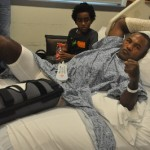 Joan Guzman: Fractured in his right hand and left knee