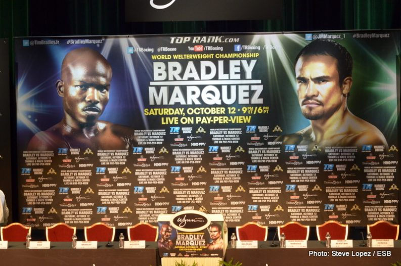 Bradley vs. Marquez Juan Manuel Marquez Tim Bradley Boxing News Top Stories Boxing