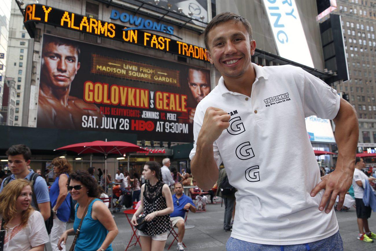 Daniel Geale Gennady Golovkin Golovkin vs. Geale Press Room