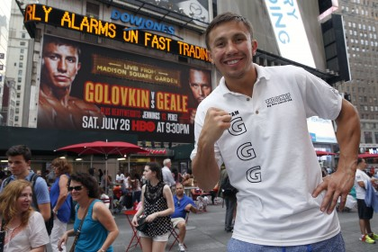 Gennady Golovkin vs. Daniel Geale: GGG hits Times Square!