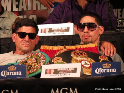 Angel Garcia Danny Garcia Floyd Mayweather Golden Boy Promotions Boxing News Top Stories Boxing