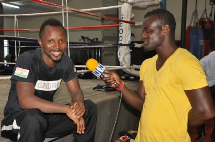 Joshua Clottey interviews Agbeko
