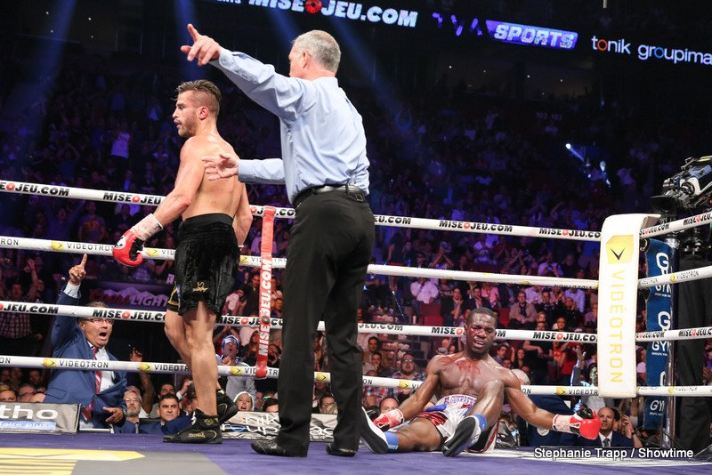 David Lemieux, Hassan N'Dam - This Saturday on June 20th, #4 IBF David Lemieux (33-2, 31 KOs) will be fighting for a world title for the first time in his eight year pro career against #1 IBF Hassan N'Dam (31-1, 18 KOs) for the vacant IBF middleweight title at the Bell Centre in Montreal, Canada. The Lemieux vs. N'Dam fight will be televised on Fox Sports 2 and Fox Deportes.