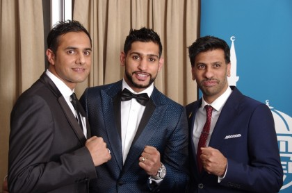 LtoR - Rizwan Malik, Amir Khan & Jhangir Malik - UK Director of Islamic Relief