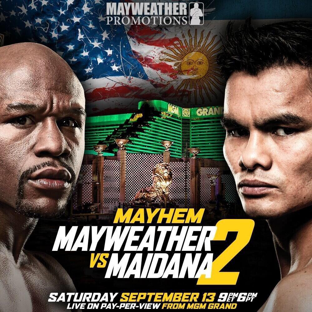 Mayweather vs. Maidana II Set For Sept. 13 Live on SHO PPV