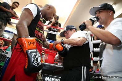 "Floyd Mayweather Jr Mayweather vs. Canelo Saul ""Canelo"" Alvarez Boxing Interviews Boxing News Top Stories Boxing"