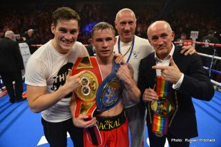 Carl Frampton - Carl Frampton had his second world title fight for his IBF strap when he took on top rated contender Chris Avalos. Avalos had two previous losses in his twenty-seven-fight career, and both had been split decisions versus undefeated opposition. The last of those losses came late in 2011 and since then had amassed a six and zero record with four stoppages. This included good wins over the likes of undefeated Yenifel Vicente and an IBF eliminator against Yautaka Ishimoto.