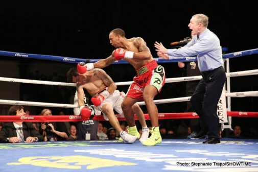 """Badou Jack, J'Leon Love, Mickey Bey - Boxing superstar Floyd Mayweather's """"Money Team'' fighters went 4-0 in fights Friday on ShoBox: The New Generation live on SHOWTIME® from Little Creek Casino Resort."""