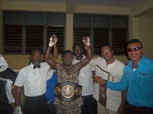 Rafael Mensah crowned by GBA President