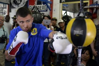 Vasyl Lomachenko - (Picture credit: Hogan Photos) The championship fight will take place on Saturday night at the Stub Hub Center in Carson, California (Showtime) and this will be Lomachenko's second attempt at this trophy. He dropped a highly controversial decision last time out to the overweight veteran Orlando Salido who lost the title on the scales but was somehow fouled his way to an SD.