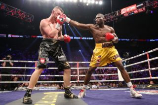 """Adonis Stevenson, Andrzej Fonfara, Stevenson vs. Fonfara - (Photo Credit: Stephanie Trapp/SHOWTIME)Adonis Stevenson won via a UD on Saturday night against Andrzej Fonfara but lost credibility as """"The Superman"""". Perhaps he did enough to win beyond doubt and he knocked down Fonfara twice but he struggled in the second half of bout and went down himself."""