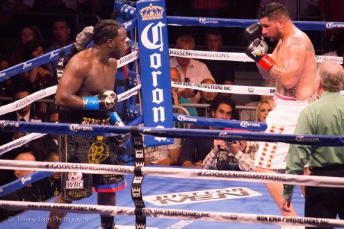 Chris Arreola - (Photo credit: Tiffany Lam) Chris Arreola (36-4, 31 KO's) made the mistake of standing directly in front of the big hitting Bermane Stiverne (24-1-1, 21 KO's) and he paid for it tonight by getting stopped in the 6th round for their fight for the vacant WBC heavyweight title strap at the USC Galen Center, in Los Angeles, California, USA. Arreola was put on the canvas twice in the 6th, and the fight was stopped after Stiverne hit a totally defenseless Arreola with a couple of more shots. Referee Jack Reiss had seen enough and stepped in and stopped the bout at 2:00 of the round.