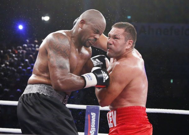 Kubrat Pulev and Dereck Chisora face off for the European heavyweight title