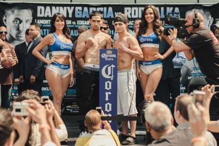 Garcia vs. Salka - (Photo Credit: Amanda Kwok / SHOWTIME)  WBA/WBC light welterweight champion Danny Garcia (28-0, 16 KOs) will be meeting Rod Salka (19-3, 3 KOs) tonight on Showtime from the Barclays Center in Brooklyn, New York.