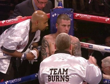 Ricky Burns defends against Terence Crawford this Saturday, March 1st in Glasgow