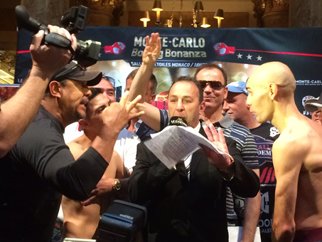 Fight weights from Monte Carlo:  Murray 159.83, Spada 159.65
