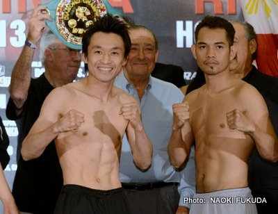 Donaire vs. Nishioka - By Joseph Herron: Earlier today from the Marriott Manhattan Beach on the southern California coastline, all four marquee fighters participating in tomorrow night's HBO Boxing After Dark double header, Donaire vs. Nishioka and Rios vs. Alvarado, stepped on the official California State Athletic Commission scale to gain their respective division eligibility.