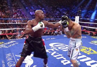 Floyd Mayweather Jr, Manny Pacquiao, Marcos Maidana, Muhammad Ali - Much of boxing made a mistake underestimating the capability of the underdog champion to beat a pound-for-pound god.  Floyd Mayweather Jr. must have realized he committed an equally big mistake handpicking the Argentine assault guru, Marcos Maidana.
