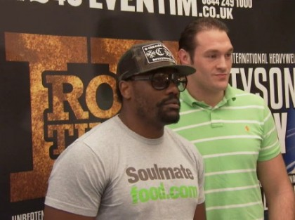 Dereck Chisora Tyson Fury British Boxing Press Room