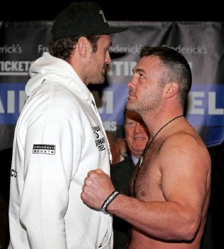 Tyson Fury tips-in at a heavy 274-pounds for clash with Joey Abell!