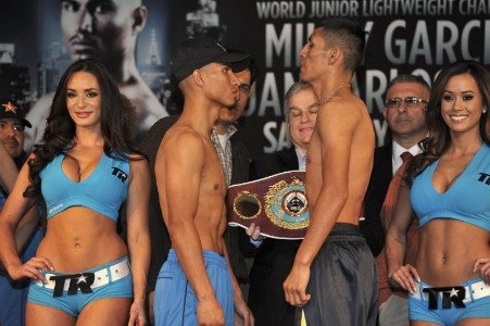 Burgos Weighs in at 129 lbs. / Garcia 129.2 lbs.