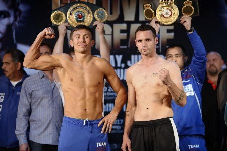 Golovkin vs. Geale & Perez vs. Jennings weights