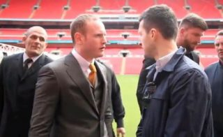 Froch vs. Groves - Today in England at Wembley in the nation's capital, Carl Froch and George Groves came face to face at a press conference to officially announce their May 31st rematch. There is, as surely everyone knows, no love lost between the two rival super-middleweights, and today the two had some harsh words for one another ahead of the fight that has, amazingly shifted 60,000 tickets after just one hour of them going on sale.
