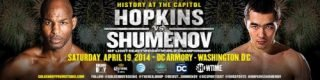 Hopkins vs. Shumenov - WASHINGTON, D.C. (March 7, 2014) - Washington, D.C. is known as a city where history is made. On Saturday, April 19, another historic event will take place in the nation's capital when IBF Light Heavyweight World Champion Bernard Hopkins faces WBA World Champion Beibut Shumenov in an attempt, at 49-years-old, to become the oldest fighter in boxing history to unify world titles. The DC Armory, the site of several championship boxing matches in the last year, will host the return of the future Hall of Famer to the capital for the SHOWTIME CHAMPIONSHIP BOXING® main event (9 p.m. ET/PT delayed on the West Coast).