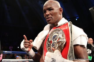 Hopkins vs. Shumenov - On March 9, 2013, Bernard Hopkins (54-6-2 with 32 KOs), then 48 years old, broke the world record for the oldest boxer to win a world title.  Whose record did he break? His own.
