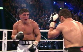 Marco Huck, Ola Afolabi - Exciting cruiserweights Marco Huck and Ola Afolabi clash for a fourth time, exclusively live on BoxNation in the UK, on Saturday 27th February at the Gerry Weber Stadium, Halle, Germany.